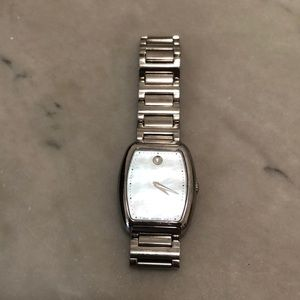Movado mother of pearl face watch